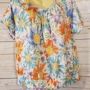 Cathy Daniels Floral Multi Color Blouse
